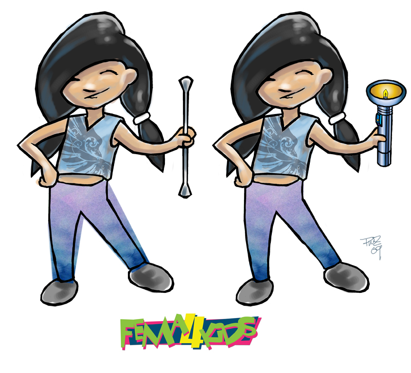 zdepski's Illustration of Tia character for FEMA 4 Kids website